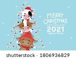 merry christmas and happy new... | Shutterstock .eps vector #1806936829