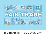 fair trade word concepts banner....