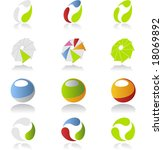 colorful icon set | Shutterstock .eps vector #18069892