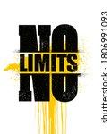 no limits. inspiring sport... | Shutterstock .eps vector #1806991093