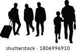 people walking bodies ...   Shutterstock .eps vector #1806996910