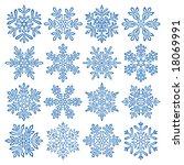 snowflakes | Shutterstock .eps vector #18069991