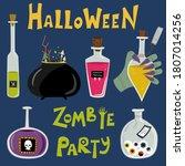 halloween potions in glass...   Shutterstock .eps vector #1807014256