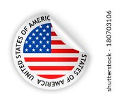 white bent sticker with flag of ... | Shutterstock . vector #180703106