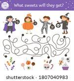 halloween maze for children.... | Shutterstock .eps vector #1807040983