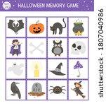halloween memory game cards... | Shutterstock .eps vector #1807040986