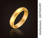 vector 3d realistic gold metal... | Shutterstock .eps vector #1807041499