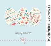 vintage easter card with eggs | Shutterstock .eps vector #180704156