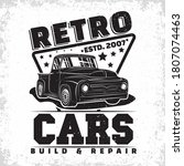 hot rod garage logo design ... | Shutterstock .eps vector #1807074463