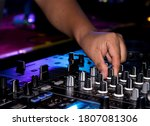 Dj Hands On Equipment Deck And...