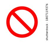red prohibition sign on white...   Shutterstock .eps vector #1807119376
