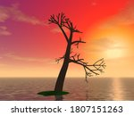 """3d Illustration  """"a Lonely Tree ..."""