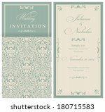 wedding invitation cards ... | Shutterstock .eps vector #180715583