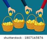 a businessman allocates more... | Shutterstock .eps vector #1807165876