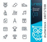 School and University outline icons