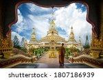 A Buddhist Monk Standing...