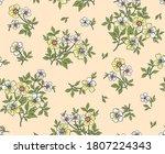 vintage floral background.... | Shutterstock .eps vector #1807224343