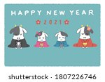 new years greeting card of the... | Shutterstock .eps vector #1807226746