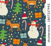 holiday seamless pattern with... | Shutterstock .eps vector #1807237993
