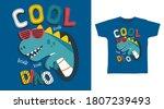 cool dinosaur roar for print on ... | Shutterstock .eps vector #1807239493