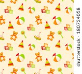 seamless pattern with children... | Shutterstock .eps vector #180724058