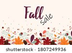 fall sale banner template with...   Shutterstock .eps vector #1807249936