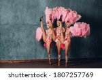 Three Women In Cabaret Costume...