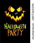 Halloween Pumpkin With Scary...