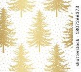 christmas tree seamless pattern.... | Shutterstock .eps vector #1807266373
