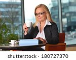 attractive middle aged blond... | Shutterstock . vector #180727370
