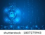 cyber security and threat...   Shutterstock .eps vector #1807275943