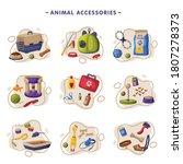 animal accessories set  pet...   Shutterstock .eps vector #1807278373