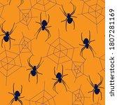 creepy halloween spiders and... | Shutterstock .eps vector #1807281169