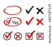 yes no check box list marker... | Shutterstock .eps vector #1807287139