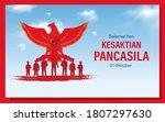 hari kesaktian pancasila ... | Shutterstock .eps vector #1807297630