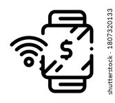 watch pay pass icon vector.... | Shutterstock .eps vector #1807320133