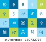 outline people and family icons.... | Shutterstock .eps vector #180732719