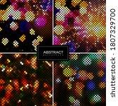 set of holiday shiny mosaic... | Shutterstock .eps vector #1807329700