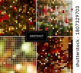 set of holiday sparkling mosaic ... | Shutterstock .eps vector #1807329703