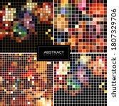 set of vector shiny mosaic... | Shutterstock .eps vector #1807329706