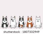 vector illustration of funny... | Shutterstock .eps vector #1807332949