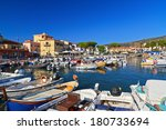 harbor and promenade in marina... | Shutterstock . vector #180733694