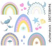 rainbow. vector set of...   Shutterstock .eps vector #1807338496