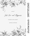 vintage floral vector border.... | Shutterstock .eps vector #1807351060