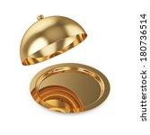 3d render of opened golden... | Shutterstock . vector #180736514