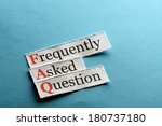 frequently asked question  faq  ... | Shutterstock . vector #180737180