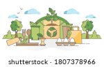 biodegradable food packaging...   Shutterstock .eps vector #1807378966
