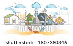 geothermal energy production as ... | Shutterstock .eps vector #1807380346