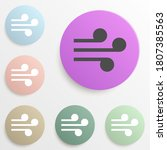 wind badge color set. simple...