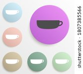 cup of coffee badge color set....